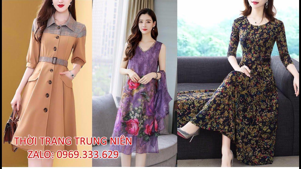 Thời Trang Tuổi Trung Niên, Đầm Trung Niên đẹp U50, U40 Nữ Sang Trọng Mới Nhất 2019 tphcm, Hà Nội