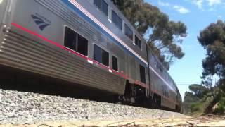 Amtrak train #14 through Goleta California.