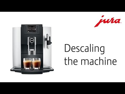 JURA E8 - Descaling the machine