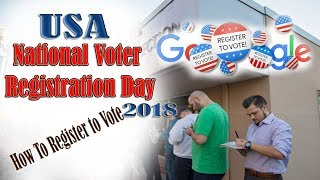 USA National Voter Registration Day 2018 -  How to register to vote - #RegisterToVote