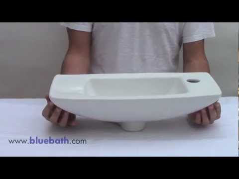 AB103 Bathroom Sink   White Porcelain Small Wall Mount