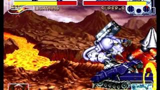 Cyberbots: Fullmetal Madness (Sega Saturn) Arcade Mode as Santana (Lightning)