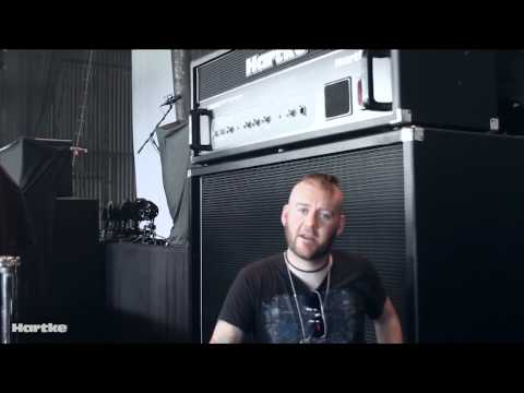Dale Stewart of Seether and his Hartke Bass rig