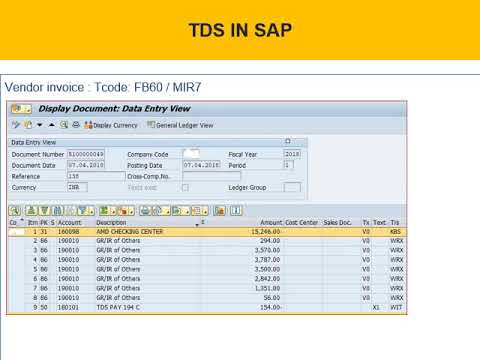 Tds ( sap ) with holding tax