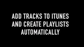 Erstellen von Wiedergabelisten und Ordnern in iTunes heraus per drag 'n' dropped audio-tracks