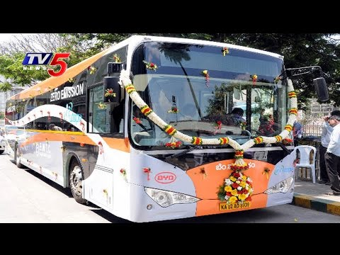 KCR Launches 80 New TSRTC Luxury Volvo Buses | Hyderabad : TV5 News