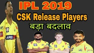 Chennai Super kings Released Players IPL 2019 | by HS Sports 13