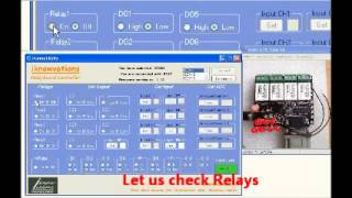 RS232 Serial Port Relay Switch demo