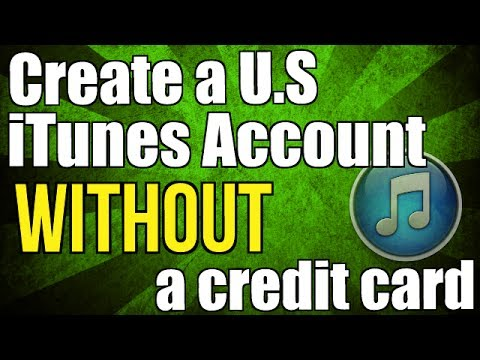 How to create a free us iTunes account without a credit card