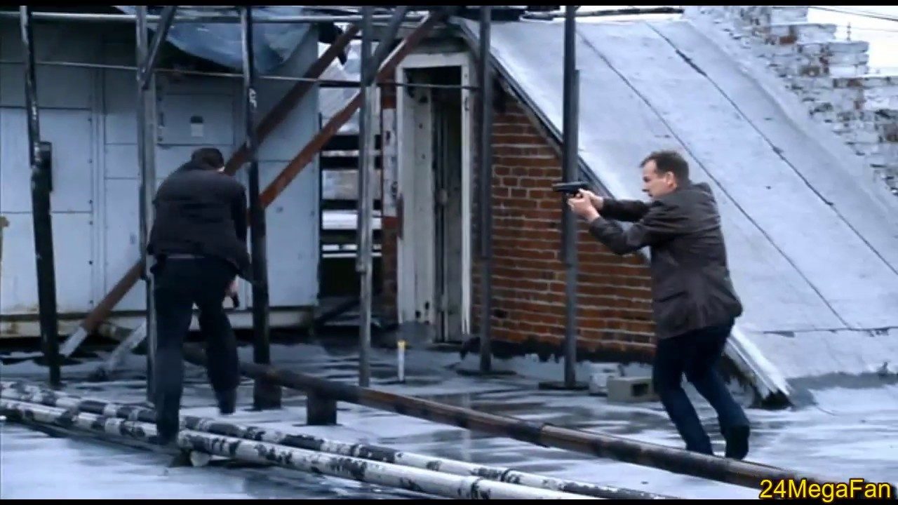Jack kills Mark Bledsoe, Action Sequence - 24 Season 8