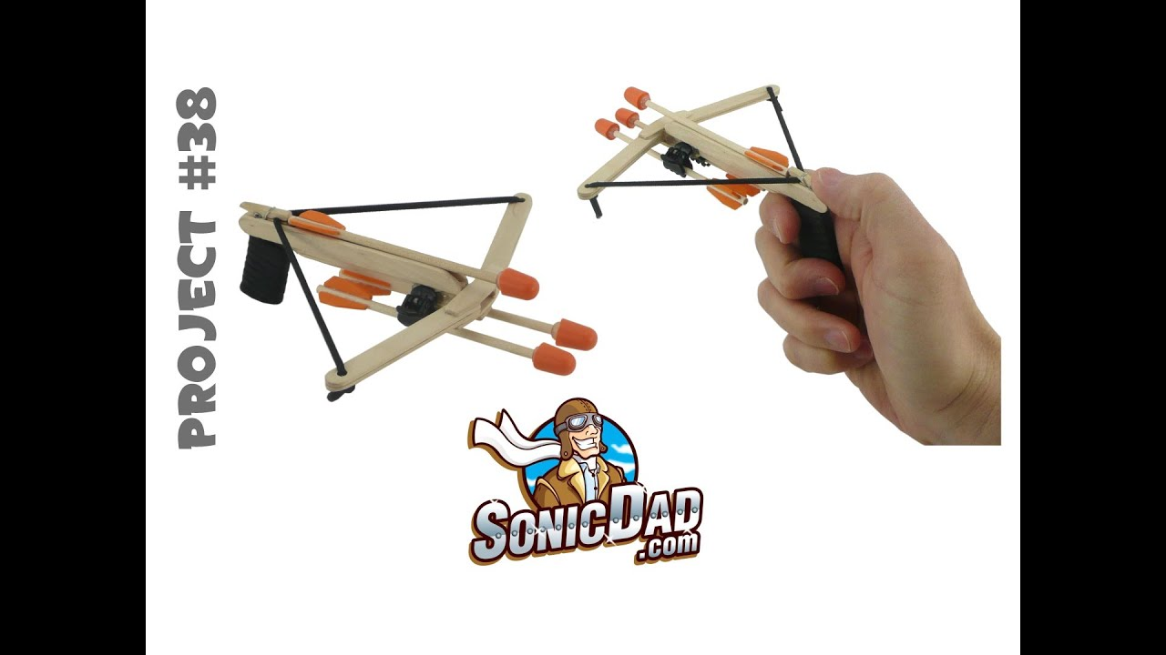 How To Make A Crossbow From Popsicle Sticks Sonicdad