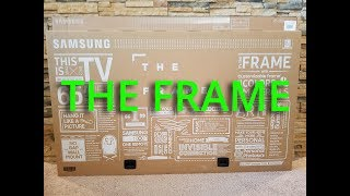 "New 2017 Samsung ""The Frame"" TV Unboxing"