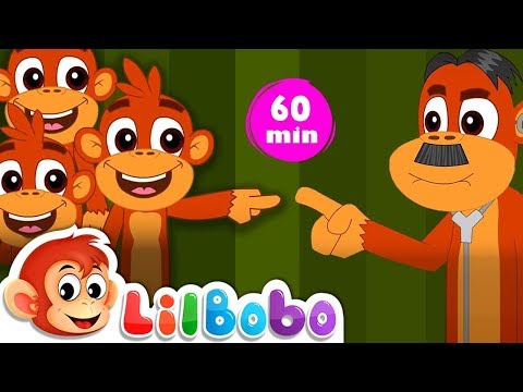 Five Little Monkeys Jumping On The Bed | Flickbox Kids Songs and Little Bobo Popular Nursery Rhymes