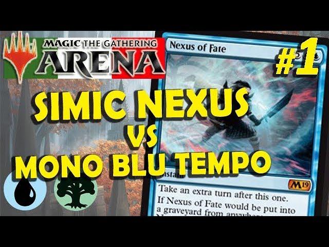 64 48 MB] Simic Nexus vs Mono Blu Tempo #1 (MTG Arena ITA