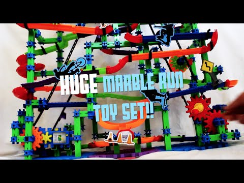 Huge Marble Run Toy Set In Action Marble Mania