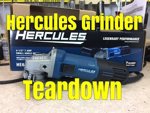 Teardown: Harbor Freight Hercules angle grinder review