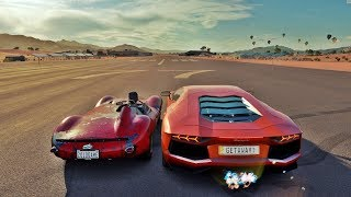 Jaguar D-Type VS Lamborghini Aventador - Forza Horizon 3 Online - ft. Getaway Driver ‹ ZoiooGamer ›