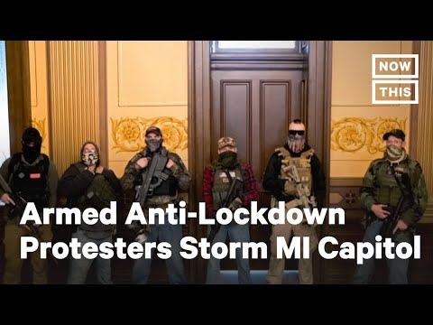 Armed Anti-Lockdown Protesters Storm Michigan Capitol Amid COVID-19 | NowThis