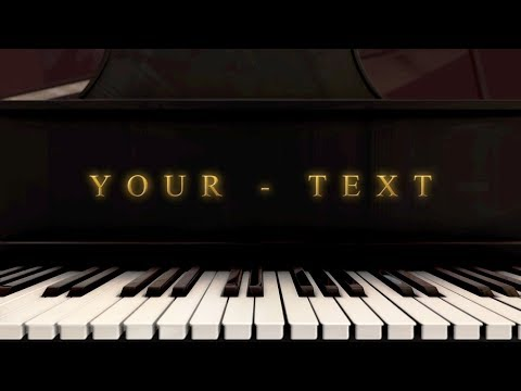 Free Logo Animation - Piano Music After Effects + Element 3D Template Project - Free Download