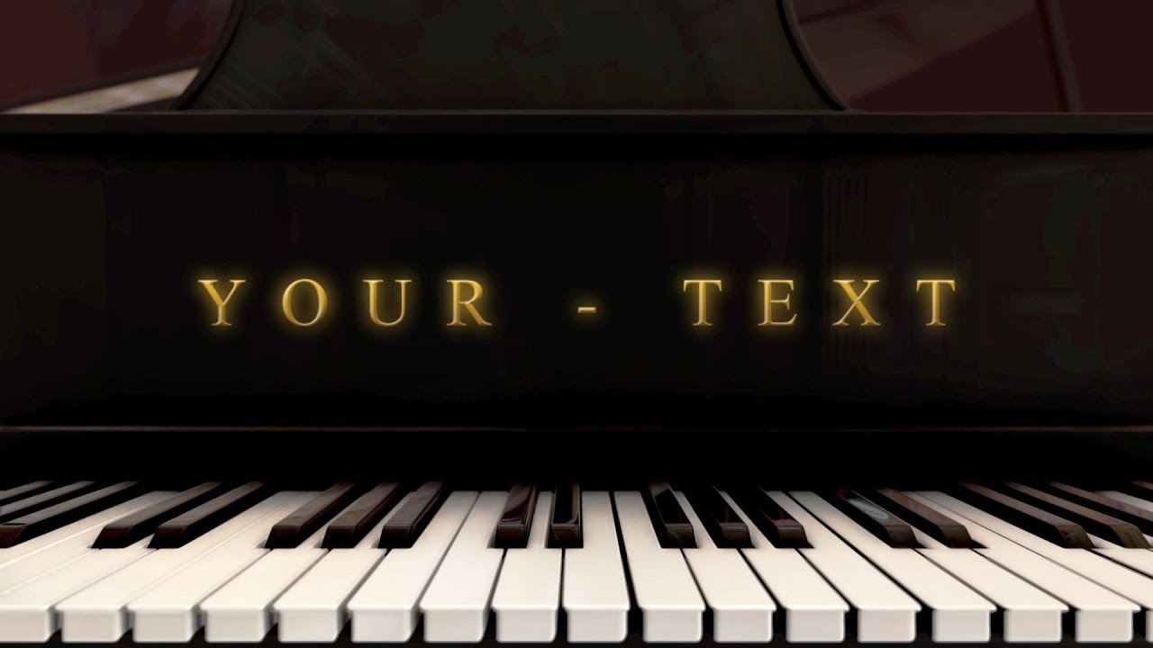 Free Logo Animation - Piano Music After Effects + Element 3D ...