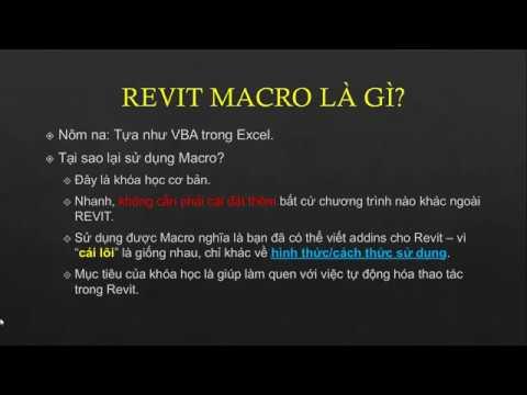 Revit Macro/API cơ bản - Buổi 1