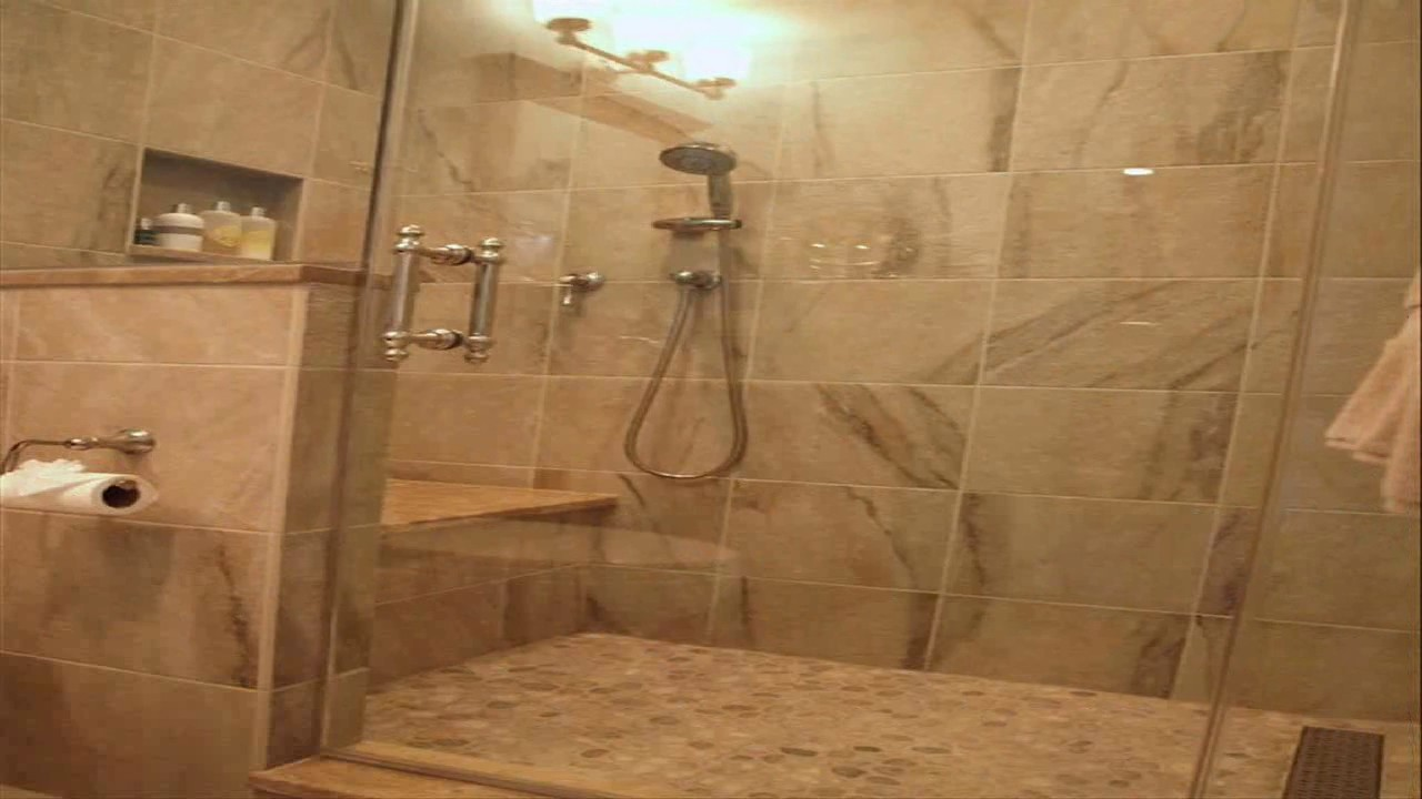 Small Bathroom Stand Up Shower - YouTube