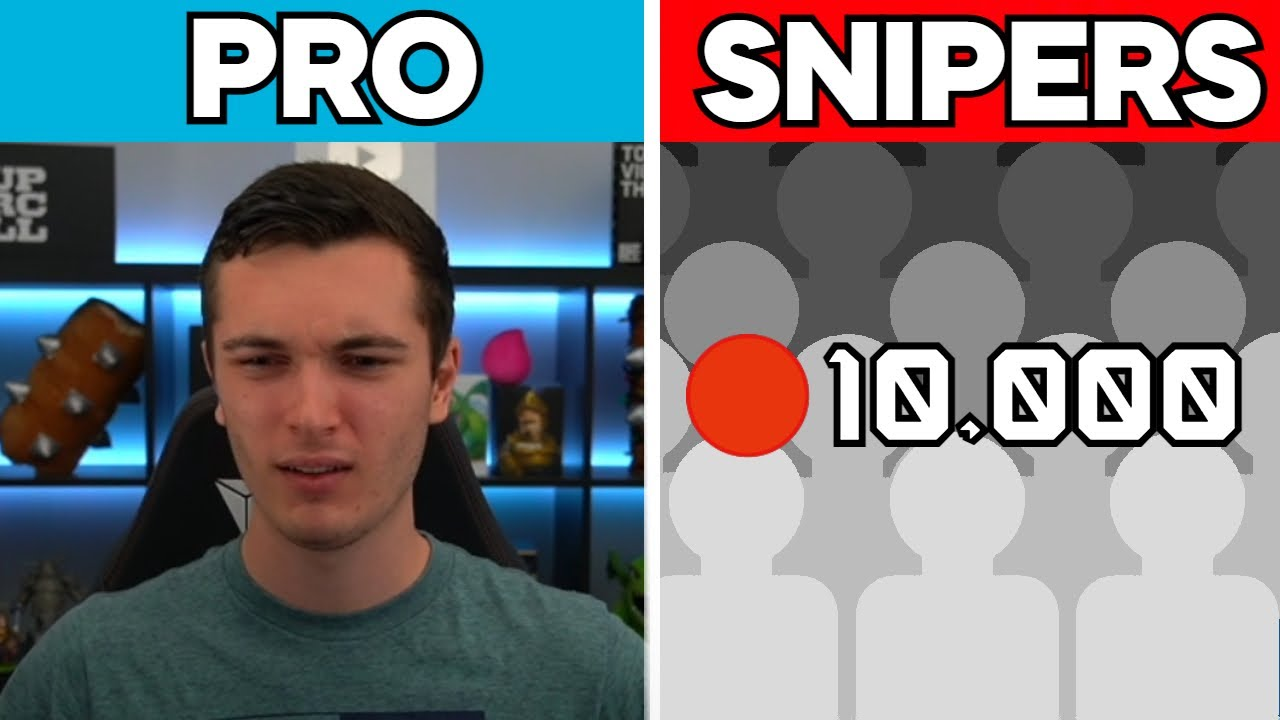 Clash Royale Pro VS 10,000 Snipers