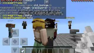wellcome to the video go play with me on minplex plz