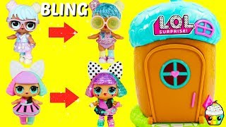 LOL Surprise Bling Series Magical Acorn House Transformation