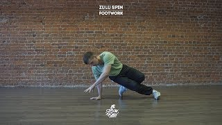 "39. Zulu spin (Footwork) | Видео уроки брейк данс от ""Своих Людей"""
