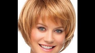 видео Стильные стрижки для круглого лица на средние волосы
