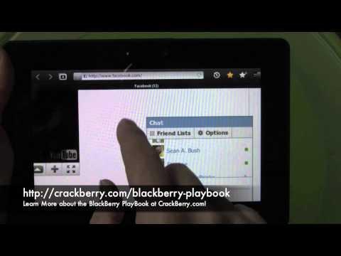 BlackBerry PlayBook Web Browser Walkthrough
