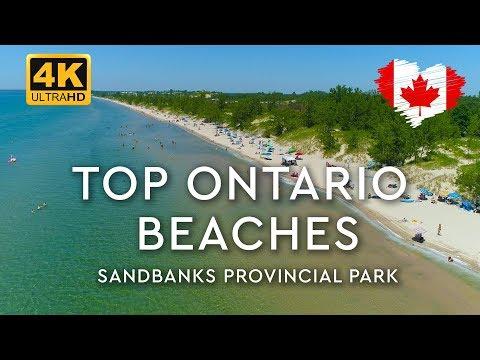 SANDBANKS Park Beaches In Ontario (NEW 🔥 4K Aerials)