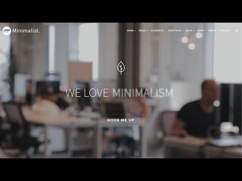 Minimalist WordPress Theme - Clean & Modern Responsive Site Builder