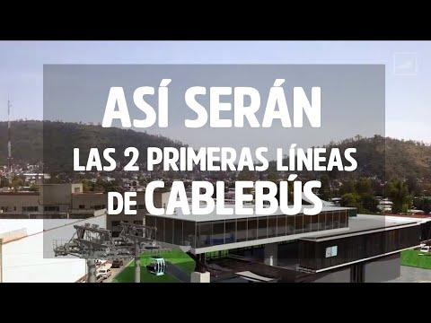 Así serán las primeras líneas de Cablebús 🚠 | CHILANGO