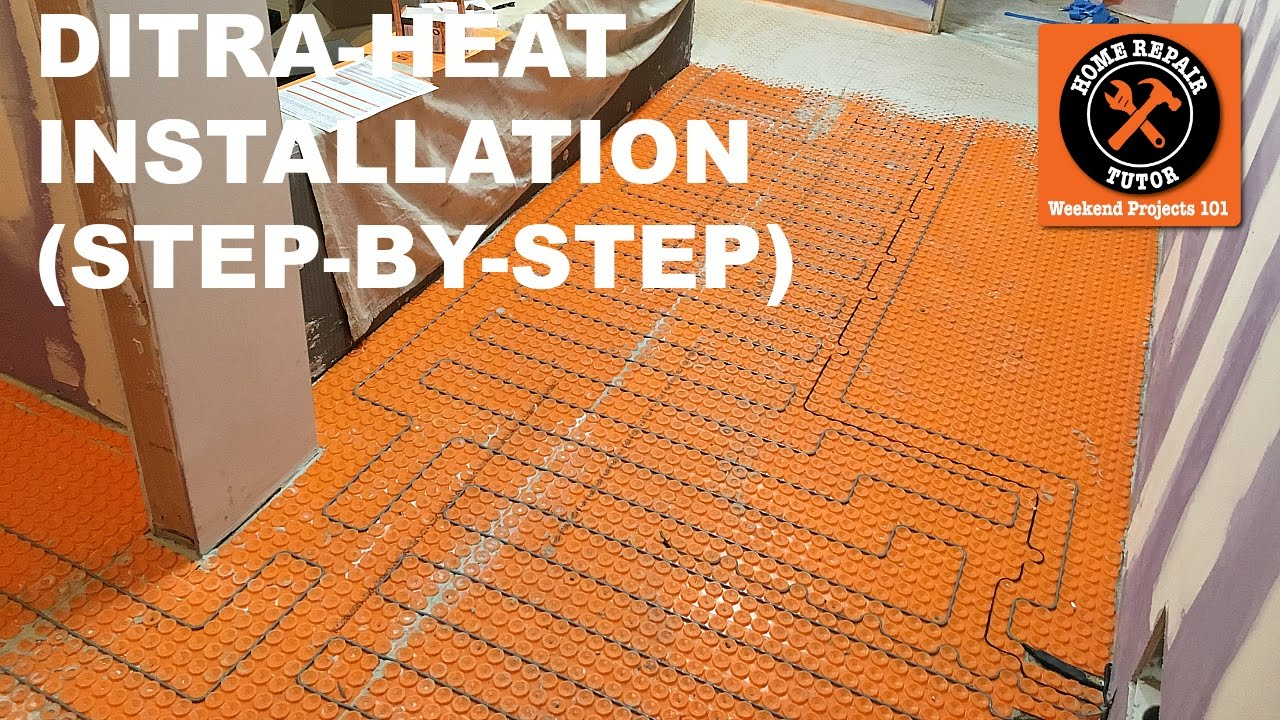 Ditra Heat Heated Flooring Systems Step By Step Installation 13