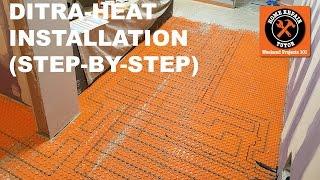 DITRAHEAT Heated Flooring Systems Installation (StepbyStep)  by Home Repair Tutor