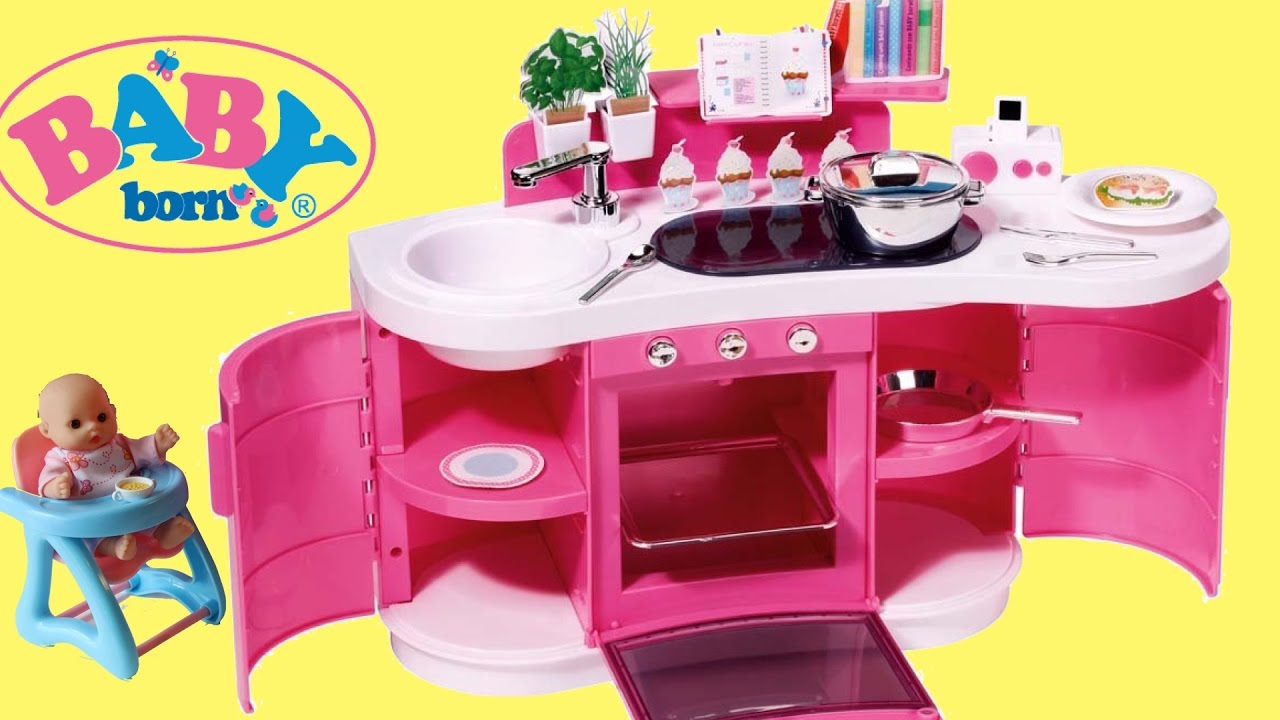 Baby born interactive kitchen baby dolls pretend cooking and baking dolls toy play