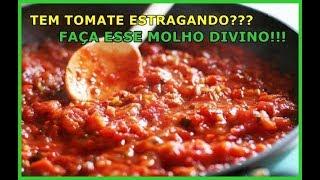 COMO FAZER MOLHO DE TOMATE CASEIRO SUPER FÁCIL, DELICIOSO E SAUDÁVEL!!!