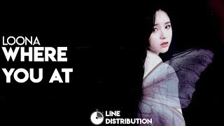 Check out the line distribution for loona's 'where you at' — requests: https://goo.gl/forms/jodqf3p4xrzqc3zf3 no copyright infringement intended. #loona #whe...