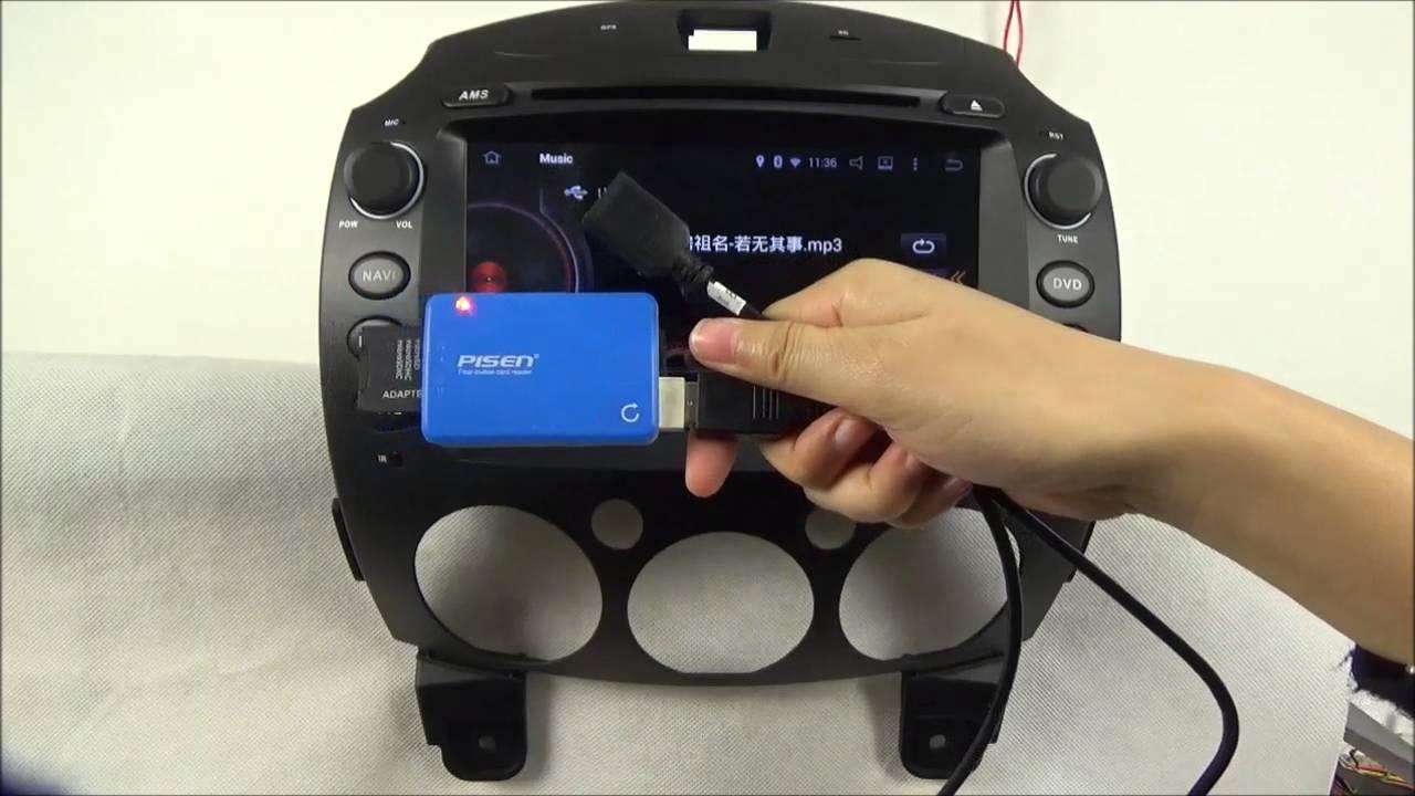 mazda 2 2007 2014 android auto radio dvd player gps wifi. Black Bedroom Furniture Sets. Home Design Ideas