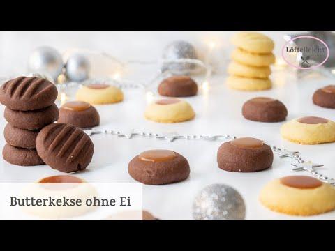kekse-ohne-ei-in-4-varianten---weihnachtsplätzchen-schnell-und-einfach---butterkekse