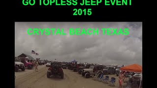 Jeep Go Topless Day May 16 2015 Crystal Beach TEXAS