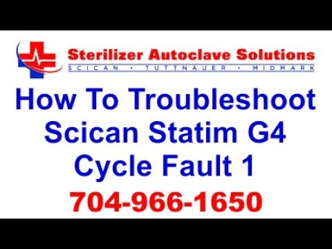 Statim G4 Cycle Fault 1 - How to Troubleshoot