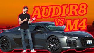 #Velocidad | Audi R8 vs M4 de 550 caballos y RS7 de 700 caballos