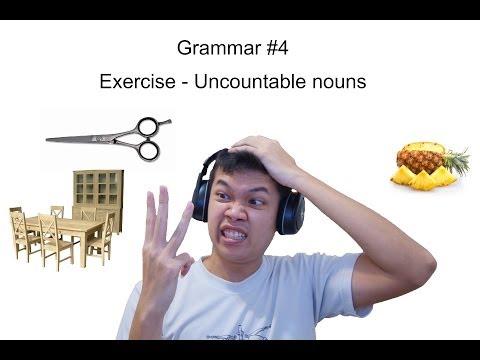 [Thai] Grammar 4 - แบบฝึกหัด uncountable nouns  By Khit TV