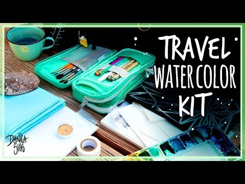 My Travel Watercolor Kit + Mini Painting