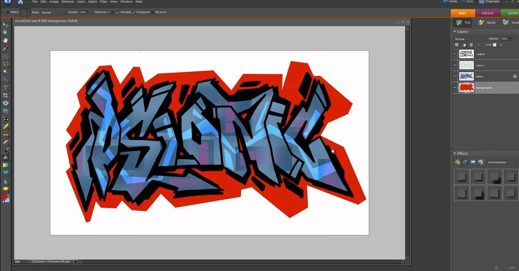 How To Make Photo Letters In Photoshop
