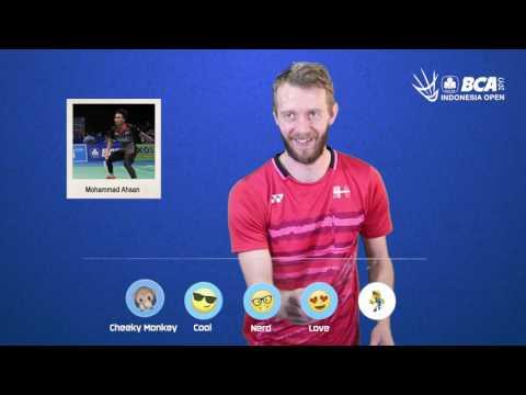 Carsten Mogensen - Emoji Players at BCA Indonesia Open 2017
