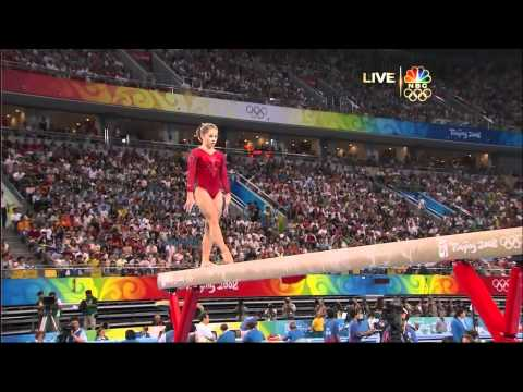Shawn Johnson - Balance Beam - 2008 Olympics All Around